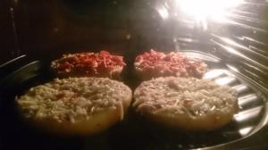 Pizzaburger im Ofen
